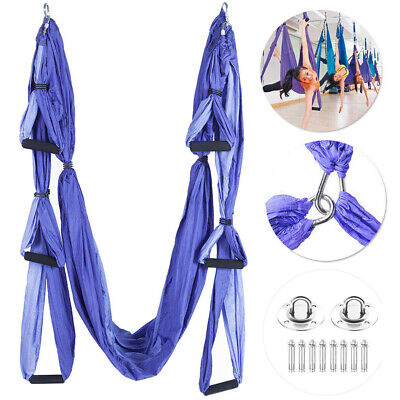 Aerial Yoga Swing Hammock Trapeze Sling Inversion Tool with Ceiling...