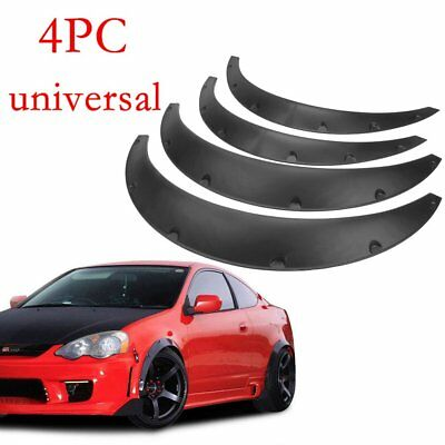 Crx Front Fender - 4Pcs Universal Fender Flares 50mm/75mm Wide Body Kit Wheel Arches Durable PU