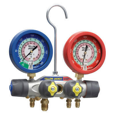 Yellow Jacket 49973 Mechanical Manifold Gauge Set4-valve