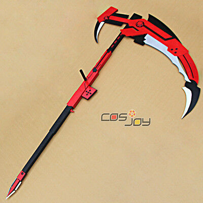 Rwby Ruby Crescent Rose The High Velocity Sniper Scythe Pvc Cosplay Prop  0329