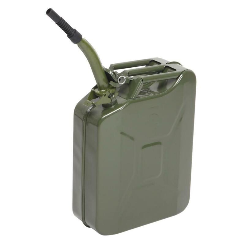 Jerry Can 5 Gal 20L Steel Gasoline Gas Fuel Tank Military Emergency Portable New