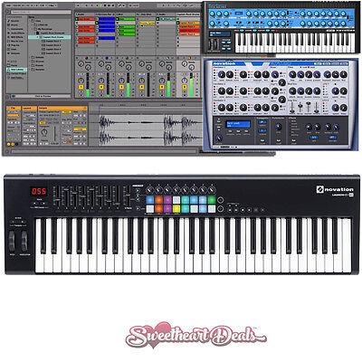 Novation Launchkey 61 MK2 USB MIDI Keyboard Controller Production Bundle