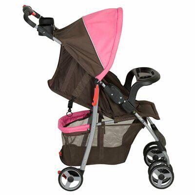 New Baby Trend Travel Passport Lightweight Travel Stroller Cocoa Berry Pink