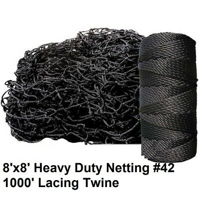 Deluxe Baseball Batting Cage Repair Kit, 8'x8' Netting #42 and Twine ()