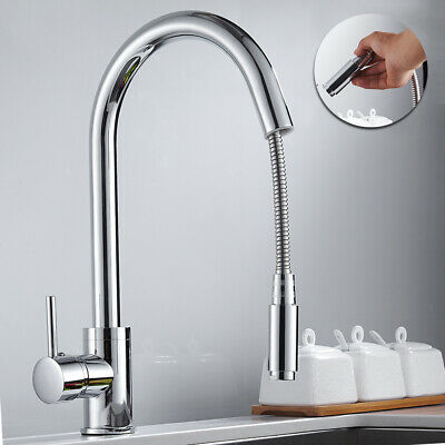 Kitchen Sink Taps Pull Out Spray Basin Mixer Tap Chrome Modern Monobloc Faucet Monobloc Kitchen Taps