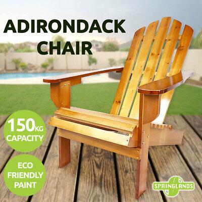 Garden Furniture - Adirondack Chair Outdoor Wooden Furniture Patio Garden Beach Deck Lounge