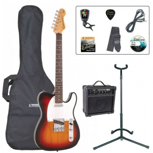 Encore E2 'T' Shape Electric Guitar Pack - Sunburst