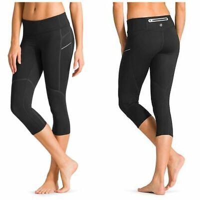 Athleta Stride Capri Running Workout Tights, Black Size Large