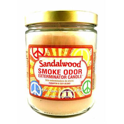 Smoke Odor Exterminator Sandalwood Deodorizing Candle, 13-oz Jar Odor Exterminator Candle