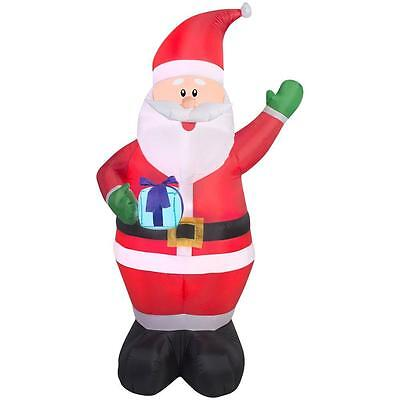 6.5 Ft. H Inflatable Santa Claus With Present Outdoor Christmas Decor