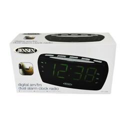 JENSEN JCR-208 AM/FM Digital Dual Alarm Clock Radio