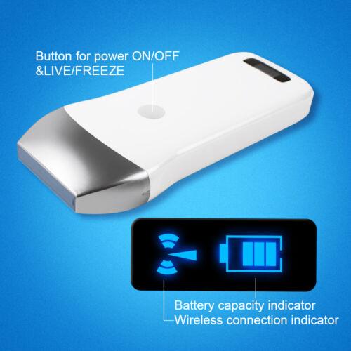 Portable Handheld Wireless WIFI Ultrasound Scanner Linear Probe Vascular 7.5Mhz