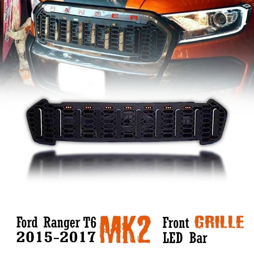 Für Ford Ranger : Kühlergrill Grill LED 15 - 17 Raptor Frontgrill 2015 2017 16