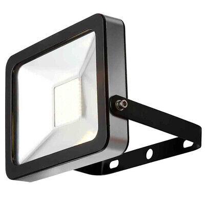 Slimline Integrated LED 50W Floodlight 6000K Outdoor Black Clearance Litecraft