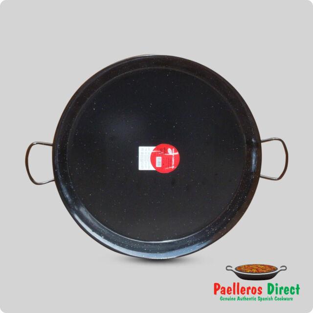 55cm Authentic Spanish Enamelled Steel Paella Pan