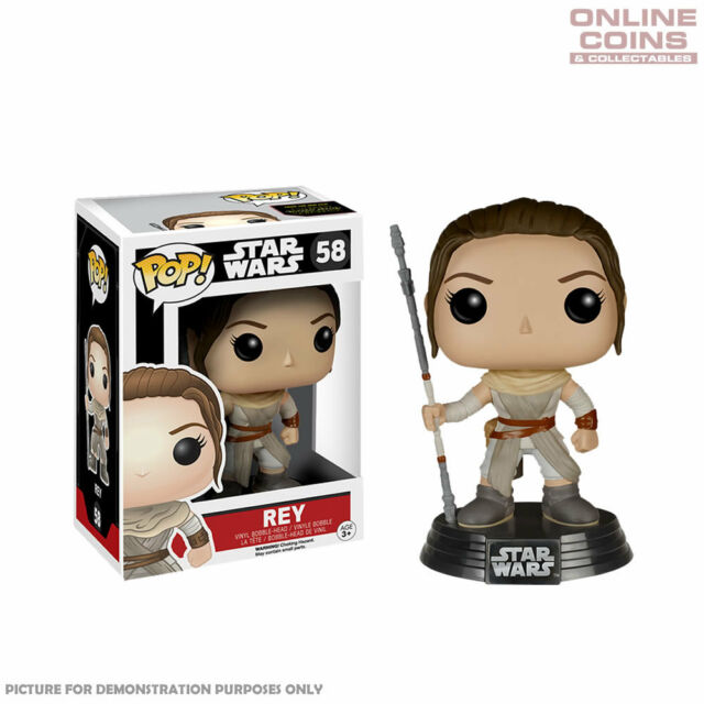 STAR WARS - REY EPISODE 7 - FUNKO POP VINYL BOBBLE HEAD FIGURE