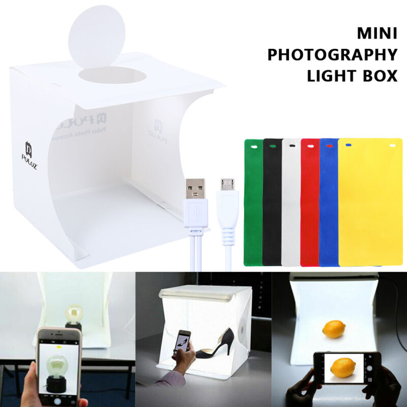 Photo Photography LED Light Box Small Shooting Tent Cube Stu