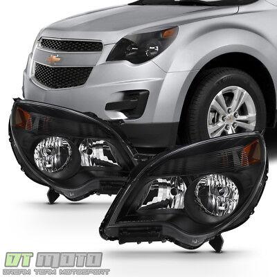 Black 2010-2015 Chevy Equinox LT/LS Headlights Replacement Headlamps 10-15 Light
