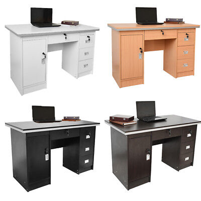 Luxury Computer Desk PC Table Study 3 Drawes Home Office Furniture Workstation