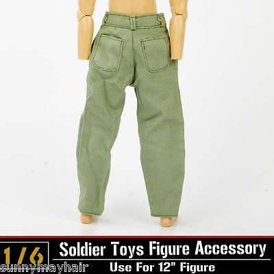 16 Dragon DML Toys Model WWII Soldier Clothes Green Pants Suits 12quot Figure