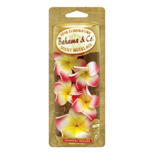 Bahama & Co Hanging Flower Necklace Car Air Freshener Freshner Tropical Breeze