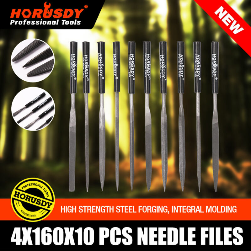 """10pc 6.5"""" 160mm Mini Diamond Needle File Set Ceramics Tile Glass US FAST SHIPPER"""