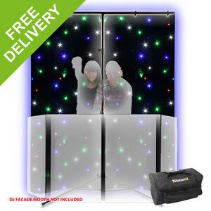 DJ Star Cloth Screen RGBW LED BACKDROP 1.2x2m DMX Remote Control + Stand