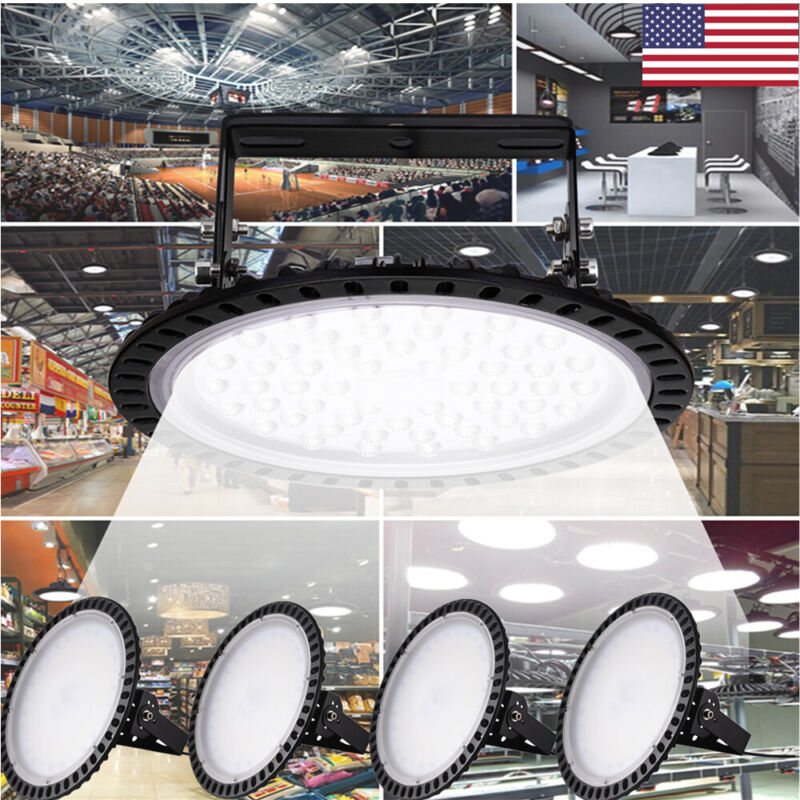 5pcs 200W 220V UFO LED Cool White High Bay Light Warehouse Factory Lamp IP65
