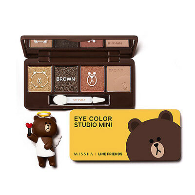 MISSHA LINE FRIENDS Edition EYE COLOR STUDIO MINI #2 Brown Daily Look Free gifts