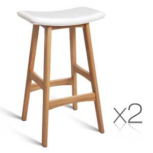 FREE SHIPPING - Set of 2 High Seat Barstools White Brisbane City Brisbane North West Preview