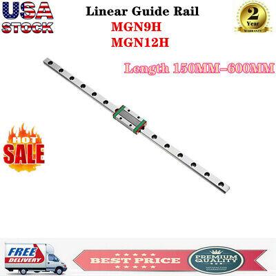 Mgn9h Mgn12h Linear Sliding Guide Rail With Block 150 - 600mm Cnc 3d Printer Us