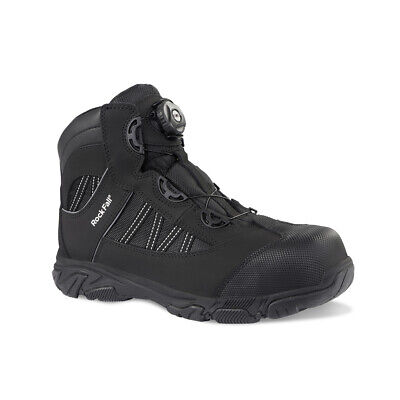 Mens Black Rock Fall Ohm SB SRC EH Black Electrical Hazard Boa Lace Safety Boots Fall Lace Boots