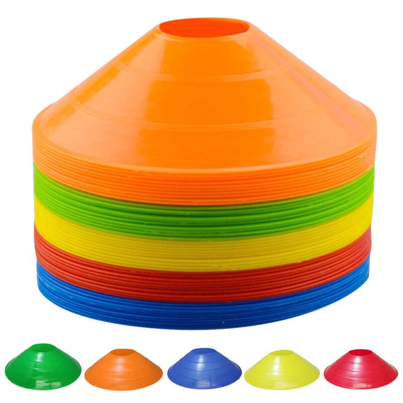 50pcs Disc Cones Agility Training Soccer Cones Field Cone Markers Multi-Color