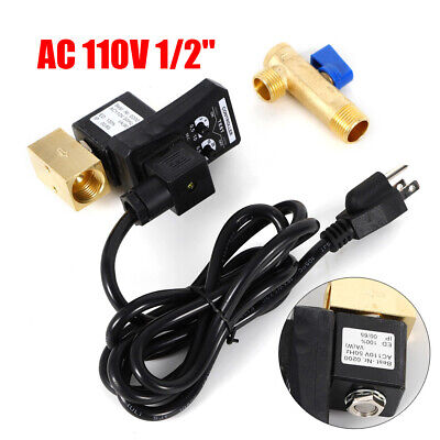 110v 12 Electronic Timed 2way Air Compressor Gas Tank Auto Drain Valveus Plug