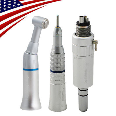 Dental Slow Low Speed Handpiece Straight Contra Angle Air Motor E-type 4 Holes