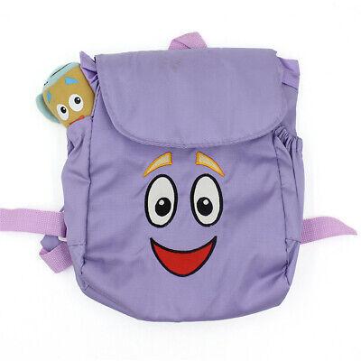 Dora The Explorer Nylon Backpack Preschool Bag Map Plush Doll Birthday Xmas Gift