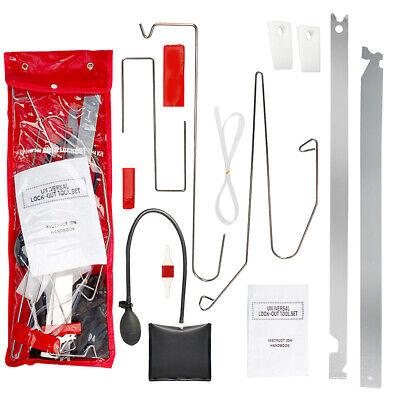 10Pcs Car Door Open Unlock Tool Kit Key Lost Lock Out Tools Emergency Air Pump