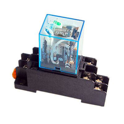1 Set MY2NJ HH52P-L Coil General Purpose Power Relay 8Pins DC 5A/12V with Socket
