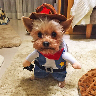 Dog Costume Cowboy Clothes For Cosplay Party Pet Puppy Cat Jacket French Bulldog - Cowboy Dog Costume