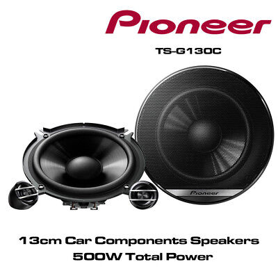 Pioneer TS-G130C - 13cm 2-Way Car Components Speakers 600W Total Power