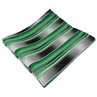 ETigerTie instecktuch grün smaragdgrün silber anthrazit grau gestreift ()