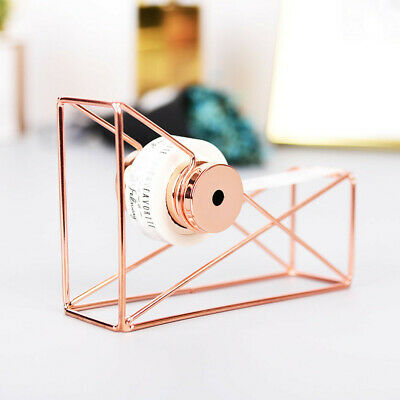 Rose Gold Metal Tape Cutter Tape Holder Dispenser Stationery Desktop Office Usa