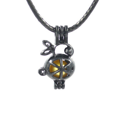 Rabbit love pearl cage with leather chain lovely women kids necklace pendant for sale  China