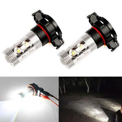 Total 2400LM 6000K High Power H16 5202 LED Driving Fog Light Bulbs