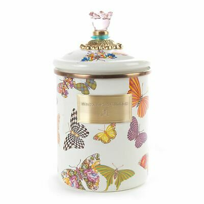 MacKenzie-Child's Medium Butterfly Canister NEW with tags