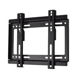 "TV WALL BRACKET MOUNT FIXED 17"" - 37"" WITH ALL FIXINGS SKY PC NEW"