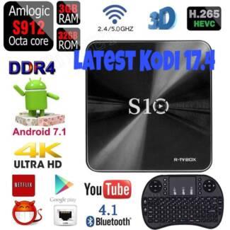 2017 R-TV BOX S10 KODI17.4 DDR4 3GB 32GB Android 7.1 Kodi Box  An