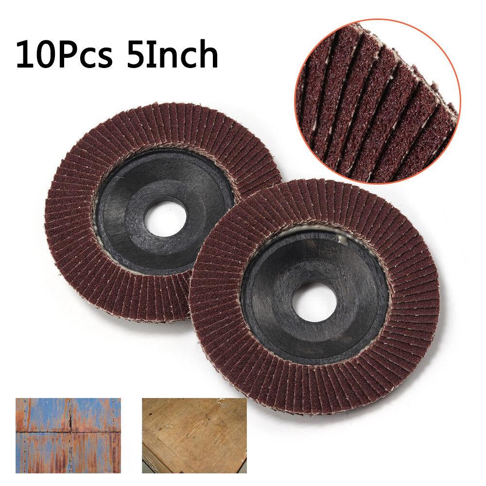 16mm Sanding Flap Wheel Disc Sandpaper Polishing Pad Shank Rotary Tool 80# 10Pcs