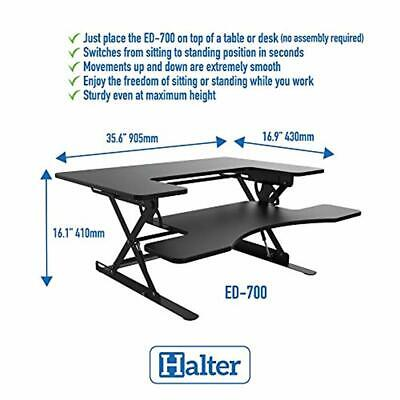 Halter Ed-700 Preassembled Height Adjustable Sitstand Elevating Desktop