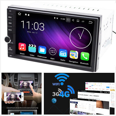 Android 7.1 Double 2Din Car Stereo Radio GPS Nav Wifi 3G/4G DAB Mirror Link OBD
